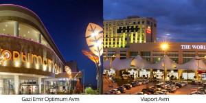 Viaport ve Gaziemir Optimum avm projeleri