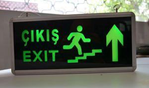 Exit Ledli Çıkış Yönlendirme